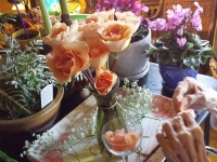 Lorraine HT Session 198 Arranging with Roses and Collecting Rose Petals for Pot Pourri