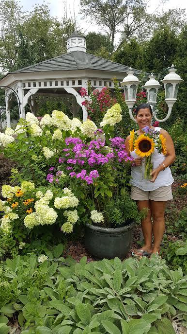 Laura in the Garden Photo